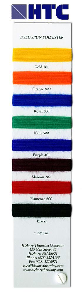 Dyed Spun Polyester Yarns