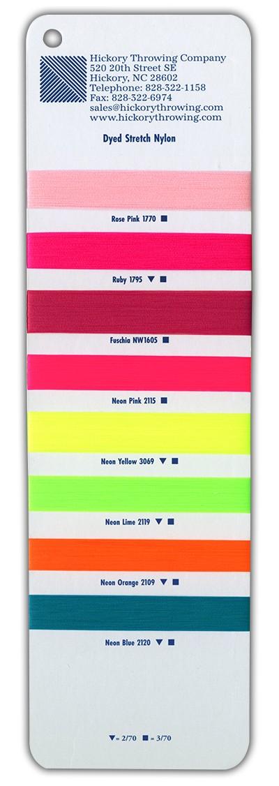 Dyed Stretch Nylon Yarns