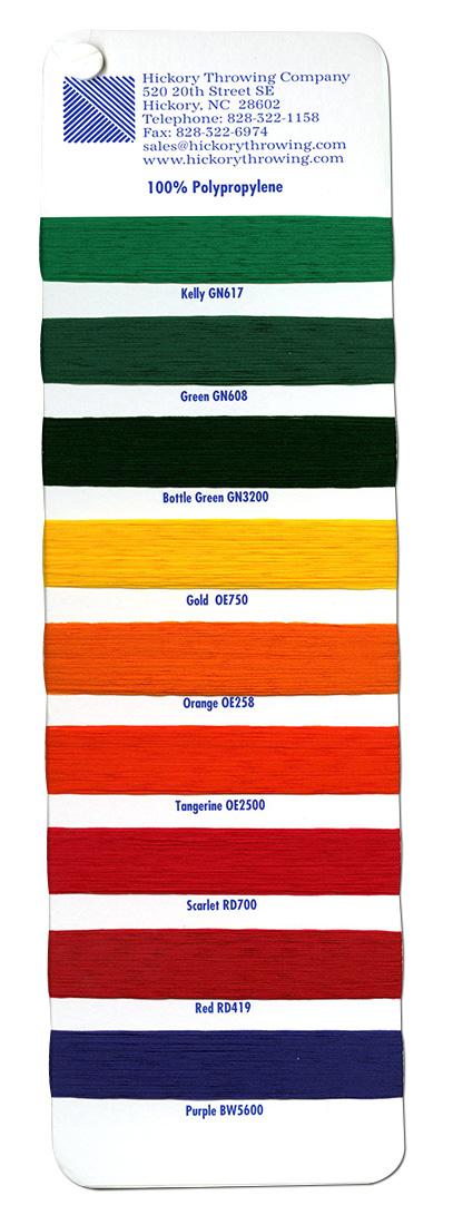 Dyed Textured Polypropylene Yarn