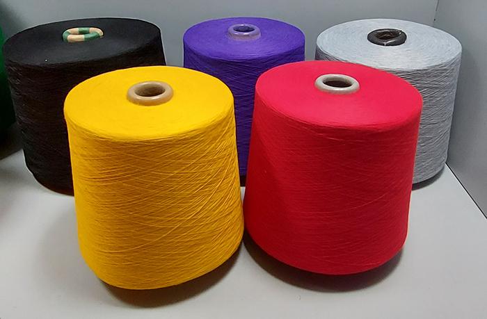 spun polyester yarns